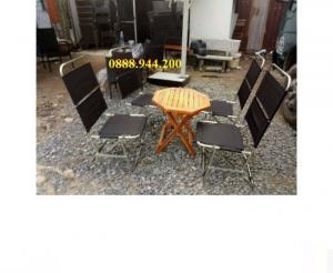 Thanh lý bộ bàn ghế xếp sân vườn giá rẻ