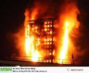 Mặt nạ chống khói độc khi cháy chung cư