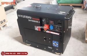 Máy phát điện chạy dầu 3 pha Hyundai 5.5kw DHY6000SE-3 chống ồn