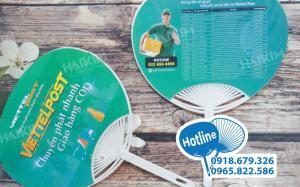 In quạt nhựa quảng cáo, quạt nhựa nan hoa dán decal