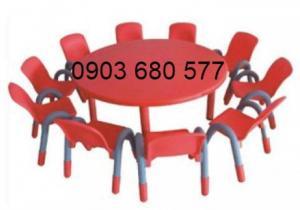Cần bán bàn nhựa hình tròn cho bé giá cực SỐC