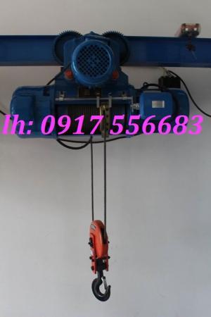 Pa lăng cáp điện 3 pha Trung Quốc 1 tấn, 2 tấn, 3 tấn, 5 tấn, 10 tấn chiều cao nâng 6m, 9m, 12m, 18m