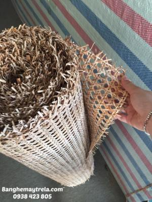 Cuộn mây tre đan làm ghế, tủ, vách ngăn