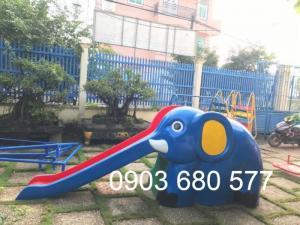 Cầu trượt đơn con voi ngộ nghĩnh dành cho trẻ em