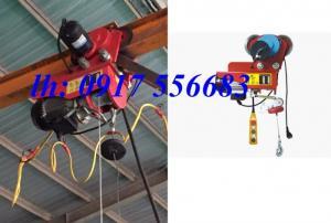 Tời điện mini có động cơ di chuyển trên dầm loại 100kg, 200kg, 300kg, 400kg, 500kg, 600kg, 800kg, 1 tấn