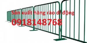 sản xuất khung hàng rào an ninh di động mạ kẽm, sơn tĩnh điện giá tốt