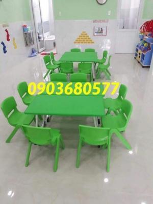 Bộ bàn ghế nhựa mầm non gập chân được giá rẻ, chất lượng cao
