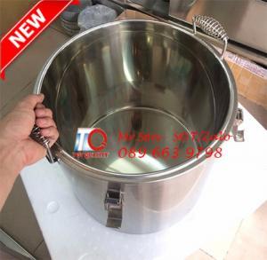 Bình/Thùng/Nồi bảo ôn cách nhiệt, giữ nhiệt nóng lạnh bằng inox 304 có nắp đậy bằng và nút thông hơi tại Cần Thơ