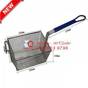 Rọ/Sọt/Rổ/Vợt chiên nhúng size lớn bằng inox 304 loại tốt dùng cho máy chiên công nghiệp - chiên gà, chiên cá tại Đà Nẵng