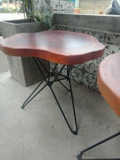 Bàn ghế Cafe Fasipan gỗ dầu
