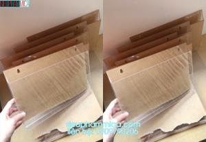 Hộp mica đựng tờ rơi một ngăn, checklist mica