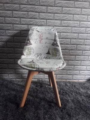 Ghế nhựa chân gỗ và inox