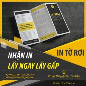 Dịch vụ in tờ rơi giá rẻ lấy ngay tại Hà Nội