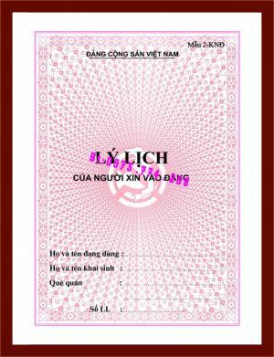 2019-09-17 10:05:32  11  Lý lịch đảng viên 10,000