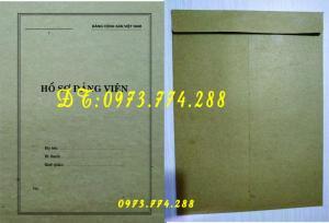 In vỏ, túi đựng hồ sơ đảng viên ở Hà Nội