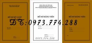 2019-09-17 11:34:57  22  In vỏ, túi đựng hồ sơ đảng viên ở Hà Nội 10,000