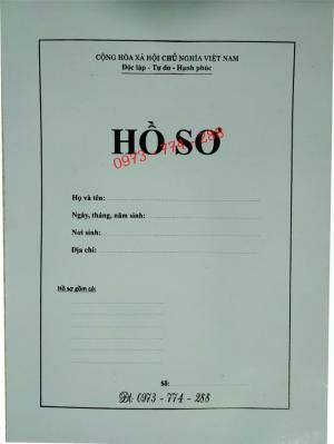 2019-09-17 11:34:57  15  In vỏ, túi đựng hồ sơ đảng viên ở Hà Nội 10,000