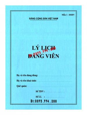 2019-09-17 11:34:57  2  In vỏ, túi đựng hồ sơ đảng viên ở Hà Nội 10,000