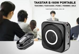 Máy trợ Giảng micro không dây Takstar E160W có bluetooth, radio FM, công suất 12W