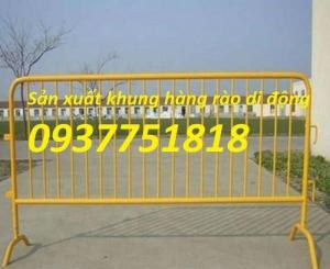 sản xuất khung hàng rào di động mạ kẽm, khung hàng rào sơn tĩnh điện giá tốt