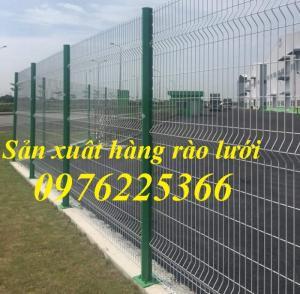 Hàng rào lưới thép mạ kẽm sơn tĩnh điện