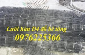 Lưới thép hàn D4, mắt lưới A100, A150, A200 dạng cuộn