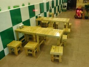 Bàn ghế cafe bệt