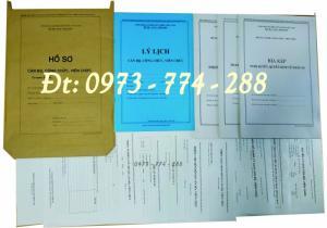 4 bộ mẫu hồ sơ cán bộ công chức, viên chức