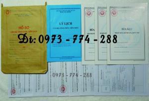Hồ sơ cán bộ Công chức - Viên chức mẫu các loại