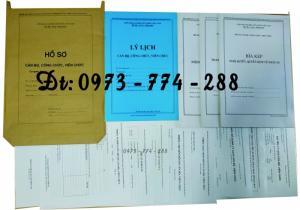 Hồ sơ cán bộ, công chức, viên chức (Mẫu B01-B02-B03-B04-B05-B06 - BNV / 2007 / 2008)