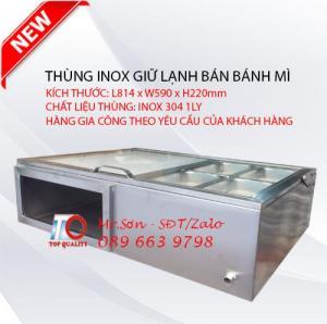 Thùng khay inox 6 ngăn giữ lạnh hải sản - Thùng khay inox 4 ngăn bán bánh mì tại Buôn Ma Thuột