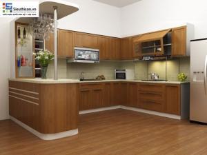 Sơn PU gỗ nội thất bám dính cực tốt CADIN bóng sáng
