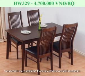 Bộ bàn ăn 4 ghế HW329 - HOMEWORLD