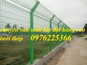 Hàng rào lưới sơn tĩnh điện, hàng rào mạ kẽm, lưới thép hàn