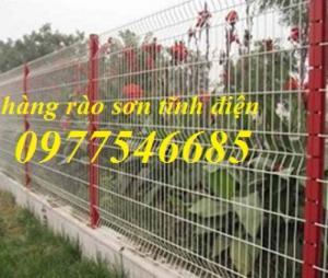 Hàng rào mạ kẽm gập hai đầu , hàng rào sơn tĩnh điện