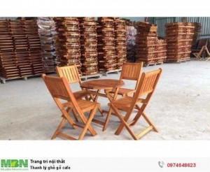 Thanh lý ghế gỗ cafe