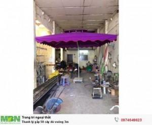 Thanh lý gấp 50 cây dù vuông 3m