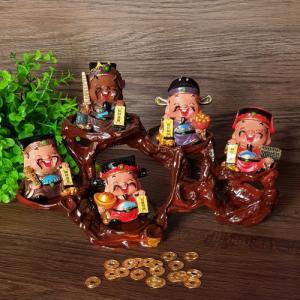 Bộ tượng 5 ông Thần Tài - Ngũ Tài may mắn