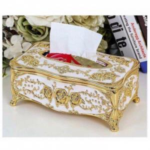 Hộp đựng giấy ăn mạ vàng sang trọng (màu vàng)