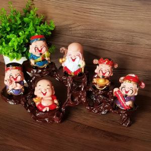 Bộ tượng Ngũ Phúc - Phúc Lộc Thọ Tài Hỷ 6cm
