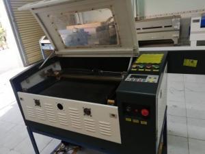 Máy laser 6040 cắt khắc mica làm tem nhãn tủ...