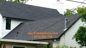 Ngói bitum dán mái bê tông