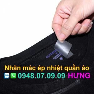 Công nghệ in nhãn ép nhiệt trên quần áo, ba lô, túi xách là gì?