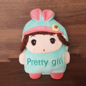 Balo vải nhung Pretty Girl màu xanh cho bé