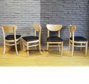 thanh lý ghế gỗ bọc nệm giá rẻ