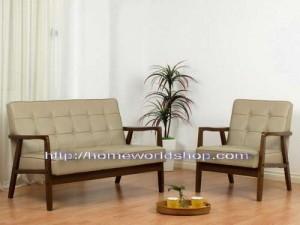 Sofa đơn khung gỗ pvc HW105 HOMEWORLD