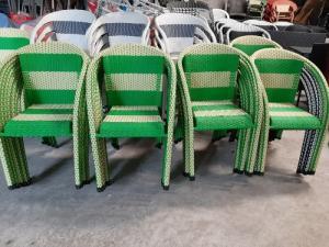 Xả lô ghế nhựa giã mây nhiều màu..