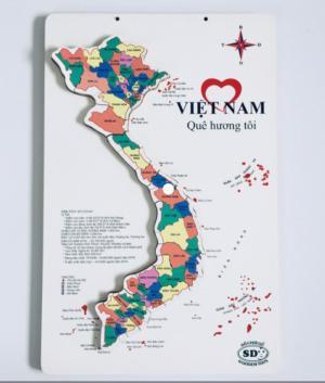 Tranh xếp hình bản đồ Việt Nam mẫu lớn đủ các tỉnh thành