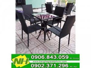 bàn ghế nhựa mây cà phê giá rẻ