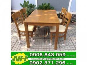 bàn ghế gỗ cabin giá rẽ